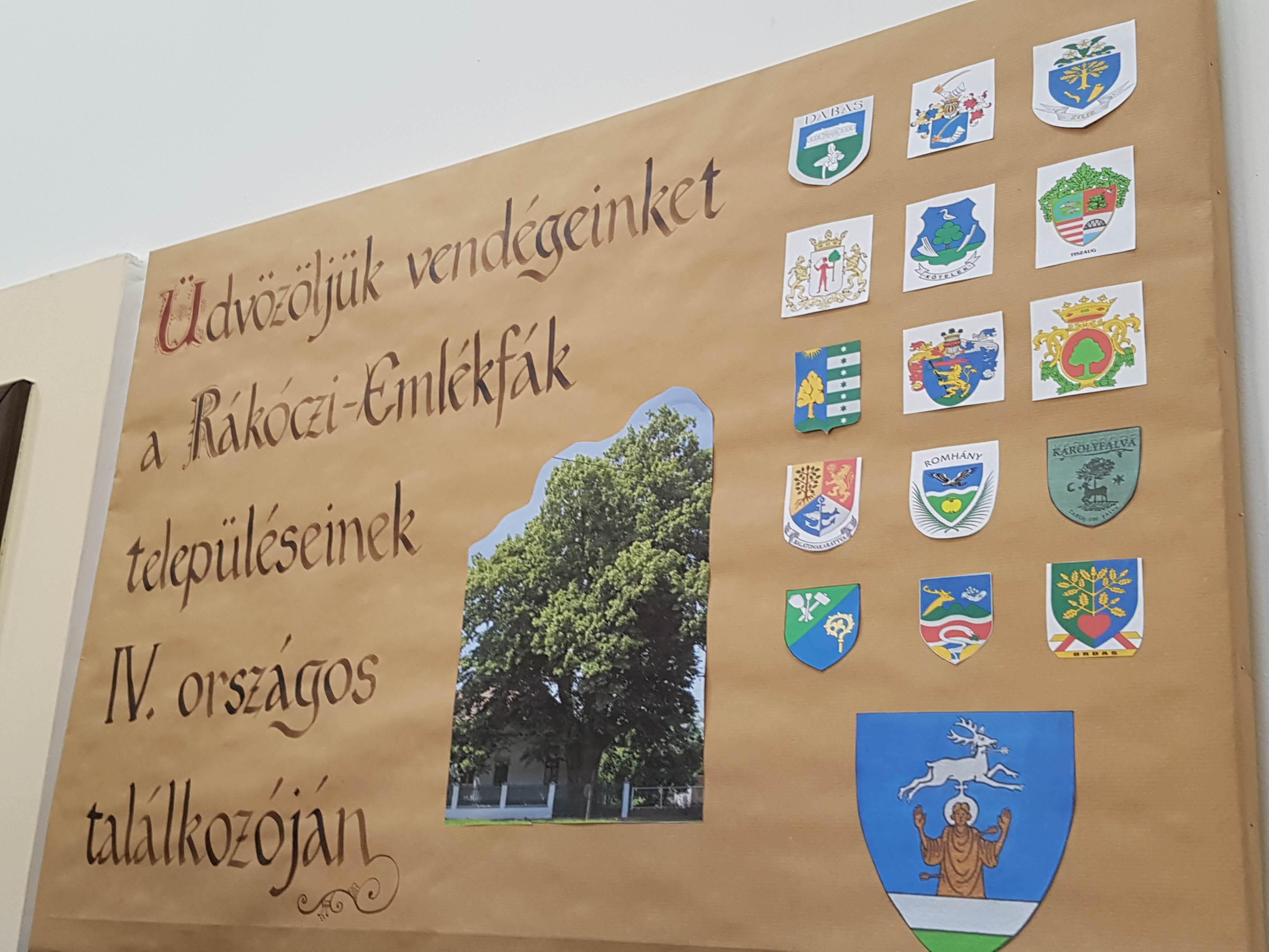 Rákóczi-emlékfák településeinek IV. országos találkozója Sajósenyén
