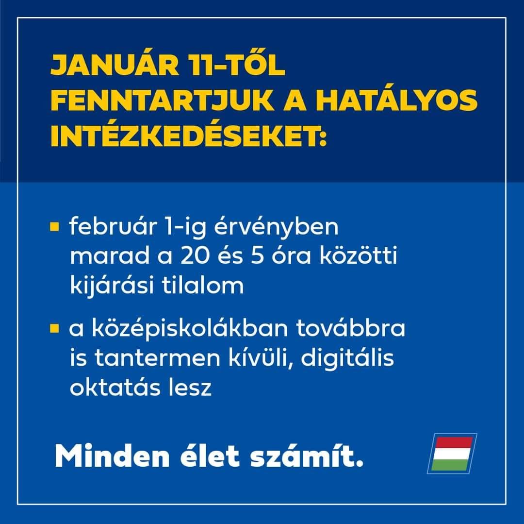 Január 11-től fenntartják a hatályos intézkedéseket