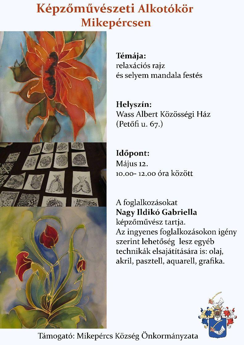 Képzőművészeti Alkotókör májusi foglalkozása
