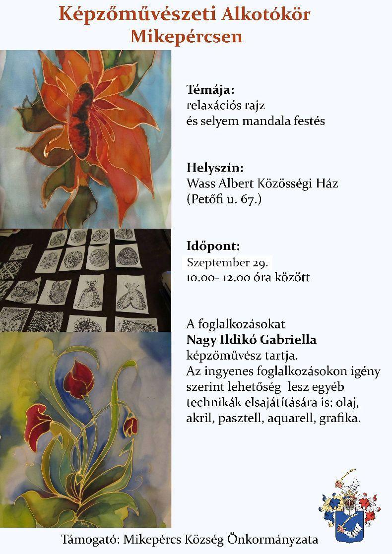 Képzőművészeti Alkotókör szeptemberi foglalkozása