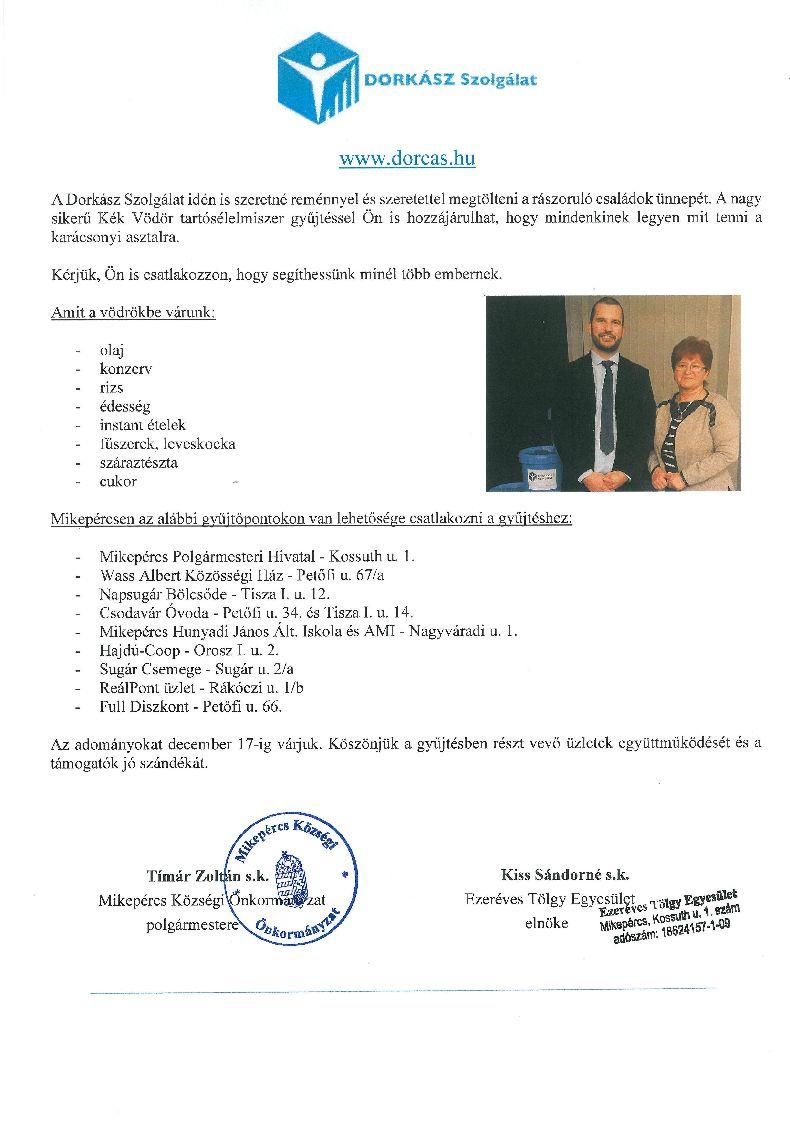 Ismét részt veszünk a Dorkász Szolgálat Kék Vödör akciójában