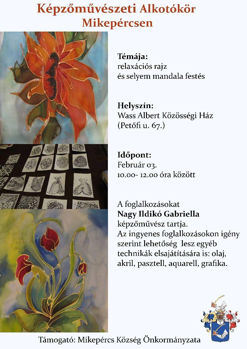 Képzőművészeti Alkotókör februári foglalkozása