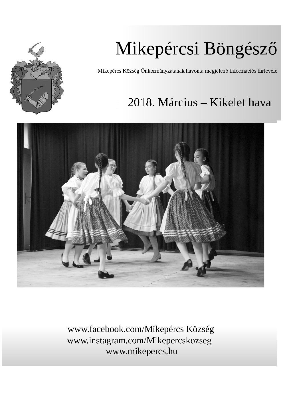 Mikepércsi Böngésző 2018. Március