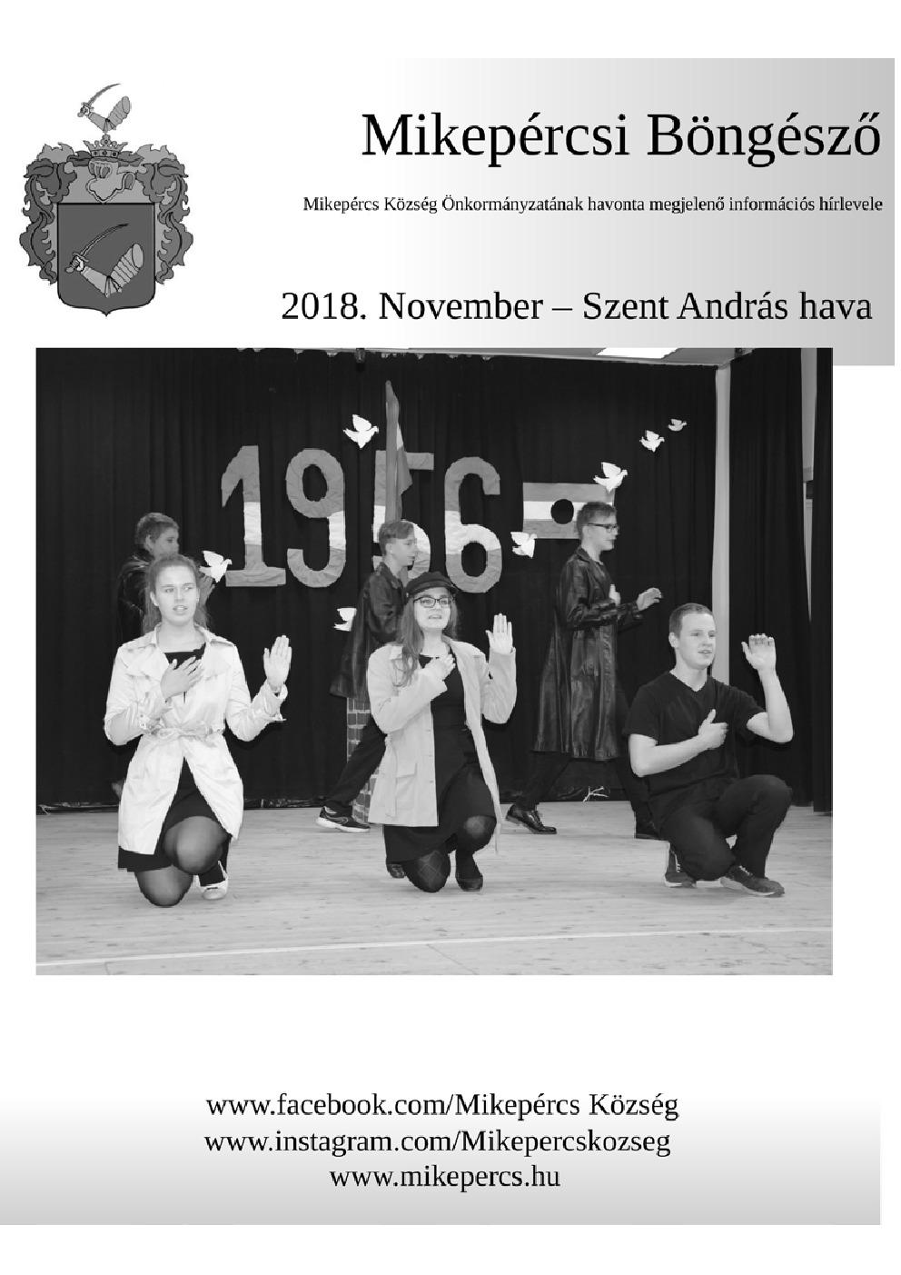 Mikepércsi Böngésző 2018. November